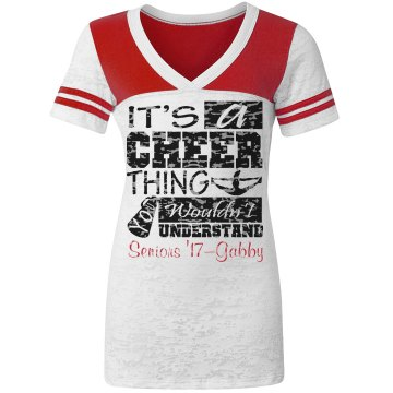 Cheer Thing Seniors Junior Fit Augusta 3/4 Legacy Raglan Tee