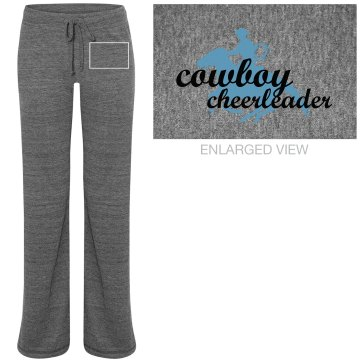 Cowboy Cheerleader Junior Fit Bella Straight Leg Fleece Sweatpant