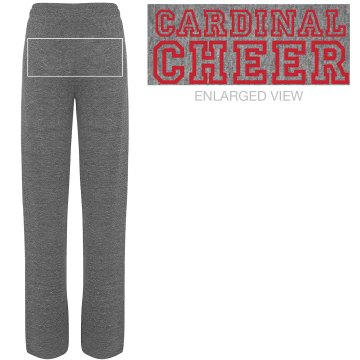 Cardinal Cheer Junior Fit Bella Straight Leg Fleece Sweatpant