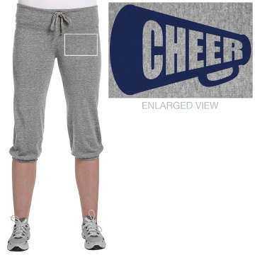 Cheer Megaphone Junior Fit Bella French Terry Lounge Pants