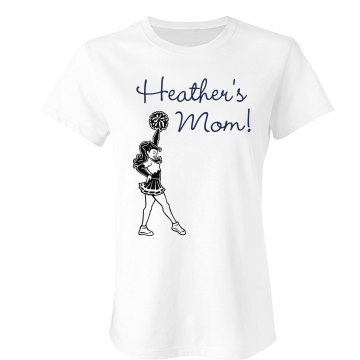 Cheerleader Heather&#x27;s Mom Junior Fit Bella Crewneck Jersey Tee