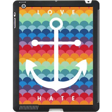 Love Hate Anchor Case Black iPad Smart Cover