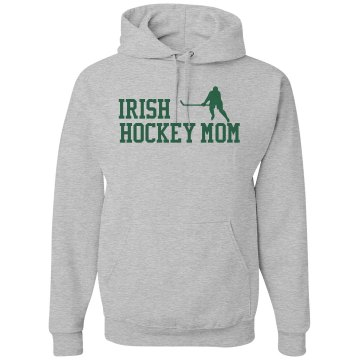 Hockey Mom w/Rhinestones Unisex Gildan Heavy Blend Hoodie
