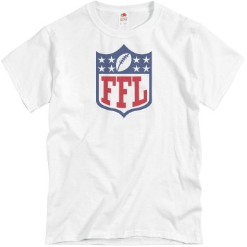 FFL Fantasy Football Logo Unisex Basic Gildan Heavy Cotton Crew Neck Tee