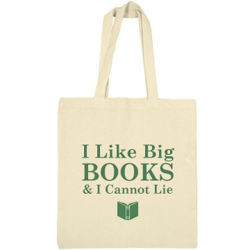 I Like Big Books Liberty Bags Canvas Bargain Tote Bag