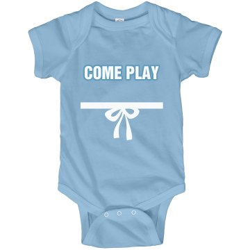 Come Play With Us Twins Infant Rabbit Skins Lap Shoulder Creeper