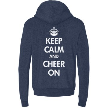 Cheer On Sweatshirt Junior Fit Bella Long Sleeve 1/2 Zip Hooded Pullover Tee
