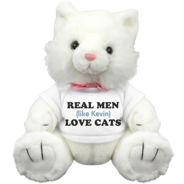 Real Men Love Cats Plush Kitty Cat