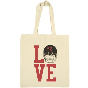 Love Football Liberty Bags Canvas Bargain Tote Bag