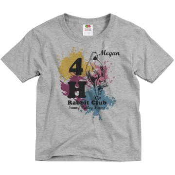 Megan's Rabbit Club Tee Youth Basic Gildan Ultra Cotton Crew Neck Tee