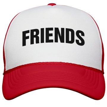 Best Friends Hat -Friends Valucap Poly-Foam Snapback Trucker Hat