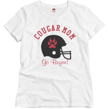 Football Mom Tee Junior Fit Brightline 3&#x2F;4 Sleeve Jersey Tee