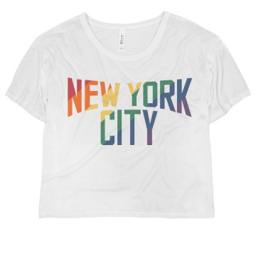 A Gay Lennon New York Misses Bella Flowy Boxy Lightweight Crop Tee