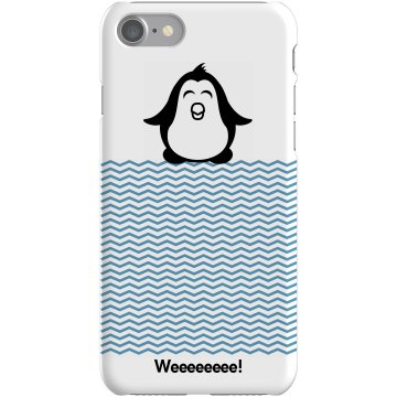 Cute Penguin iPhone Case Plastic iPhone 5 Case Black