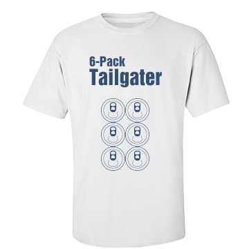 6Pack Tailgater Football Unisex Basic Port & Company Essential Tee