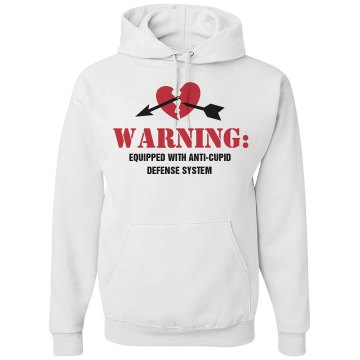 Anti-Cupid Defense System Unisex Gildan Heavy Blend Hoodie