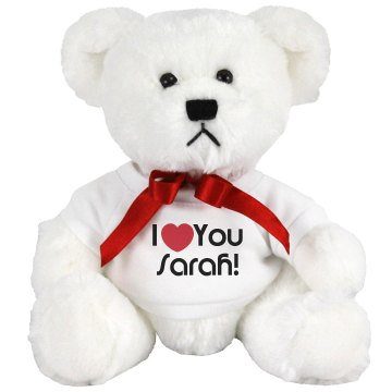 I Love You Teddy Bear Small Plush Teddy Bear