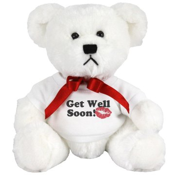 Get Well Soon Teddy Small Plush Teddy Bear