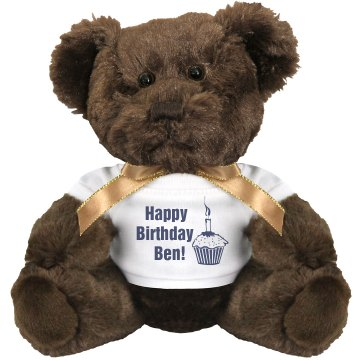 Birthday Teddy Small Plush Teddy Bear
