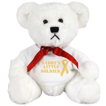 Daddy's Little Soldier Small Plush Teddy Bear
