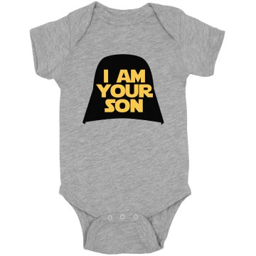 I Am Your Son Onesie Infant Rabbit Skins Lap Shoulder Creeper