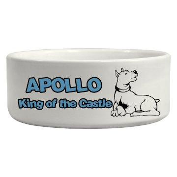 the Kings Dog Bowl Ceramic Pet Bowl