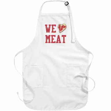 We Love Meat Basic White Apron