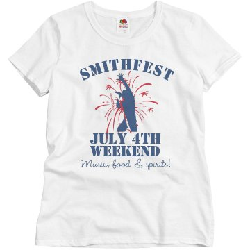 Smithfest Weekend Tee Misses Relaxed Fit Basic Gildan Ultra Cotton Tee