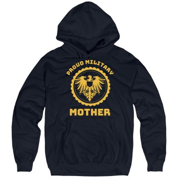 Proud Marine Mom Hoodie Unisex Hanes Ultimate Cotton Heavyweight Hoodie