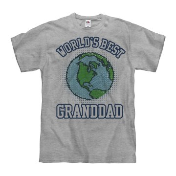 World's Best Granddad Unisex Basic Gildan Heavy Cotton Crew Neck Tee