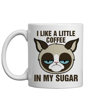 Grumpy Cat Morning Sugar 11oz Ceramic Coffee Mug