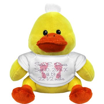 Newborn Baby Duckie Plush Duckie
