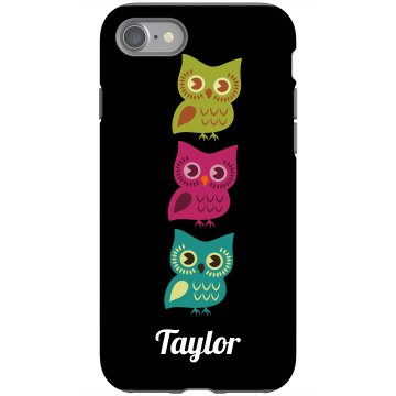 Owl iPhone Case Rubber iPhone 4 & 4S Case Black
