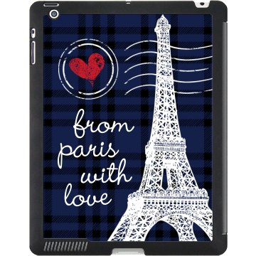 From Paris With Love Black iPad Smart Cover