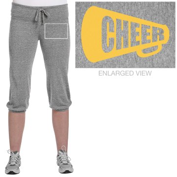 Cheer Capris Junior Fit Soffe Fleece Capri