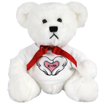 Heart Hands Love Bear Medium Plush Teddy Bear