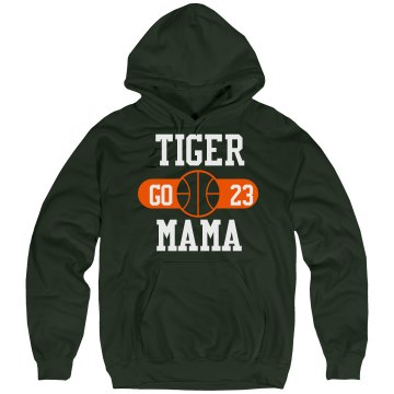 Tiger Basketball Mama Unisex Hanes Ultimate Cotton Heavyweight Hoodie