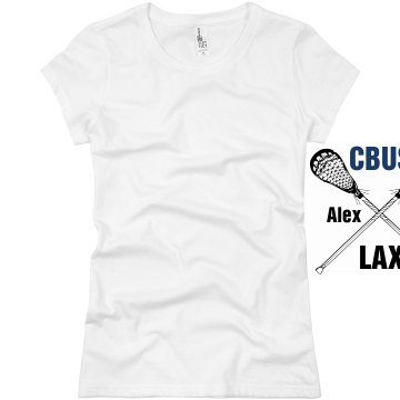 Columbus Lacrosse Junior Fit Basic Bella Favorite Tee