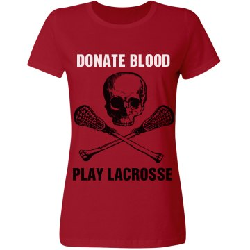 Donate Blood Play Misses Relaxed Fit Gildan Heavy Cotton Tee