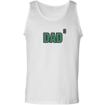 Dad Of Three Unisex Basic Gildan Ultra Cotton Tank Top