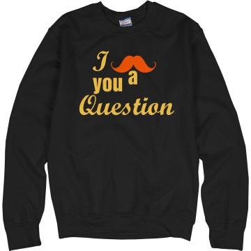 Mustache of Orange Unisex Hanes Crew Neck Sweatshirt