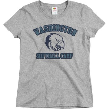 Eagle Softball Camp Misses Relaxed Fit Basic Gildan Ultra Cotton Tee