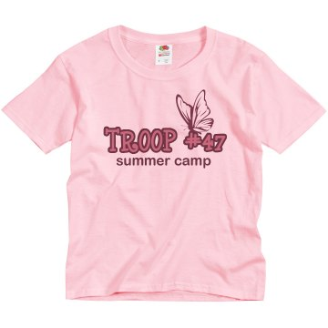 Troop #47 Summer Camp Youth Basic Gildan Heavy Cotton Crew Neck Tee