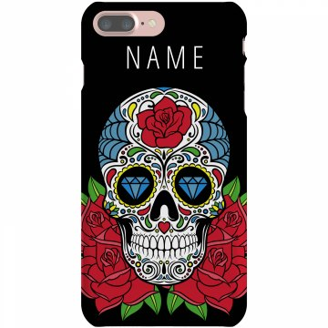 Sugar Skull iPhone Case Plastic iPhone 5 Case Black