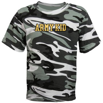 Army Kid Camo Youth Code V Camouflage Tee