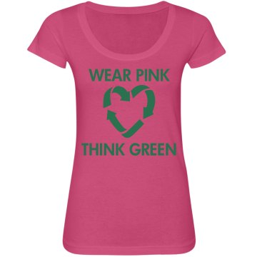 Wear Pink Junior Fit Bella Sheer Longer Length Scoopneck Tee