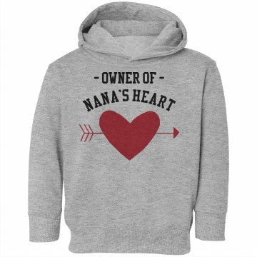 Owner Of Nana's Heart Toddler Rabbit Skins Hooded Sweatshirt