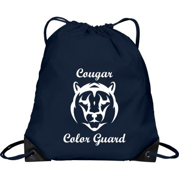 Cougar Color Guard Port & Company Drawstring Cinch Bag