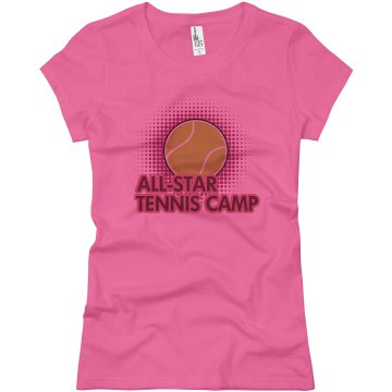All-Star Tennis Camp Junior Fit Basic Bella Favorite Tee