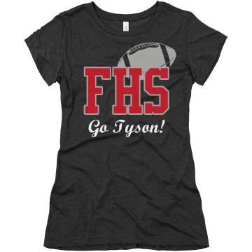 Football Fan Tee Junior Fit Bella Triblend Tee